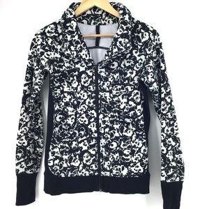 Lululemon Black Floral Cozy Cuddle Up Jacket